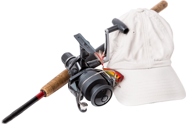 Fishing Rods And Cap